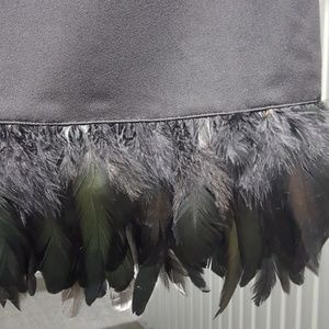 Nicole by Nicole Miller Tops - NICOLE MILLER Black top with feathers.